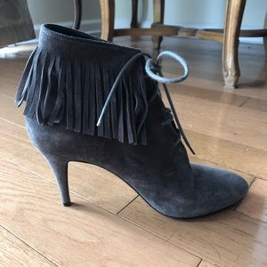 Yves St. Laurent Fringe Booties